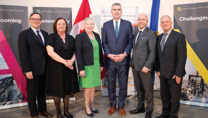 Premier Stephen McNeil at the Art Gallery of Nova Scotia Announcement with Federal Minister of Rural Economic Development Bernadette Jordan